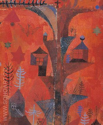 The Tree Of Houses 1918 - Paul Klee reproduction oil painting