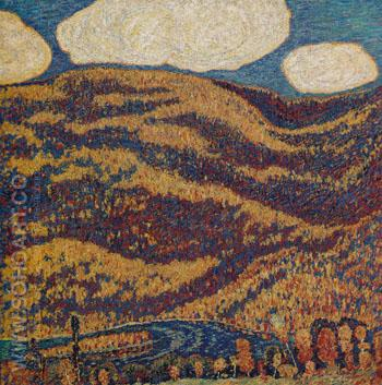 Carnival of Autumn 1908 - Marsden Hartley reproduction oil painting