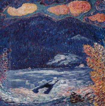 The Ice Hole Maine c1908 - Marsden Hartley reproduction oil painting