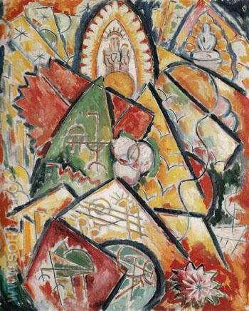 Musical Theme Oriental Symphony c1912 - Marsden Hartley reproduction oil painting