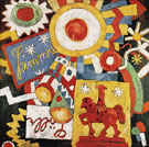 Himmel c1914 - Marsden Hartley reproduction oil painting