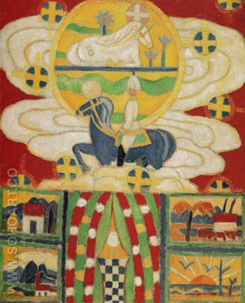 Berlin Ante War 1914 - Marsden Hartley reproduction oil painting