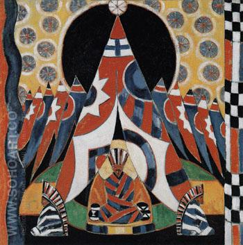 American Indian Symbols 1914 - Marsden Hartley reproduction oil painting
