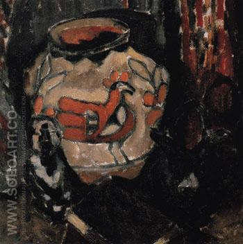 Indian Pottery Jar and Idol 1912 - Marsden Hartley reproduction oil painting