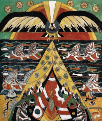Indian Fantasy 1914 - Marsden Hartley reproduction oil painting