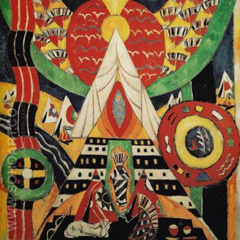 Indian Composition 1914 - Marsden Hartley reproduction oil painting