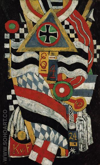 Portrait of a German Officer 1914 - Marsden Hartley reproduction oil painting