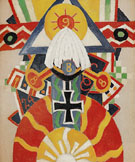 Painting No49 Berlin 1914 - Marsden Hartley reproduction oil painting