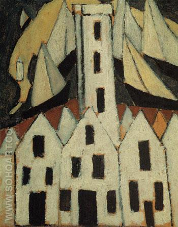 Movement No5 Provincetown Houses 1916 - Marsden Hartley reproduction oil painting