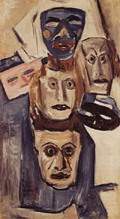 Masks c1931 - Marsden Hartley reproduction oil painting