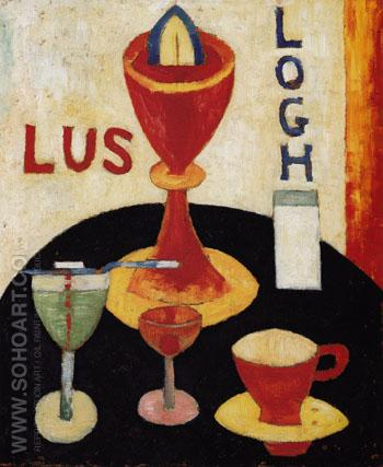 Handsome Drinks c1916 - Marsden Hartley reproduction oil painting