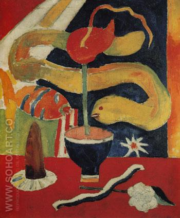 Still Life with Eel c1917 - Marsden Hartley reproduction oil painting