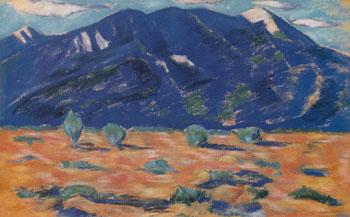 Pueblo Mountain New Mexico 1918 - Marsden Hartley reproduction oil painting