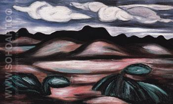 Landscape New Mexico 1923 - Marsden Hartley reproduction oil painting