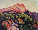 Mont Sainte Victoire Aix en Provence 1927 - Marsden Hartley reproduction oil painting