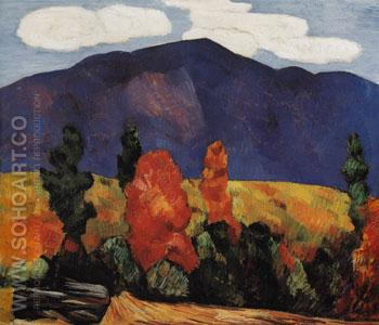 Franconia Notch 1930 - Marsden Hartley reproduction oil painting
