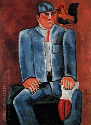 Young Seadog with Friend Billy 1942 - Marsden Hartley reproduction oil painting