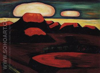 Earth Cooling Mexico 1932 - Marsden Hartley reproduction oil painting
