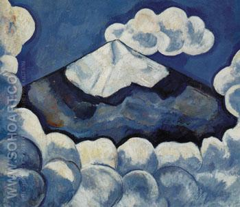 Popocatepetl Spirited Morning Mexico 1932 - Marsden Hartley reproduction oil painting