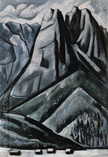 Waxenstein at Hamarsbach Garmisch Bavaria 1933 - Marsden Hartley reproduction oil painting