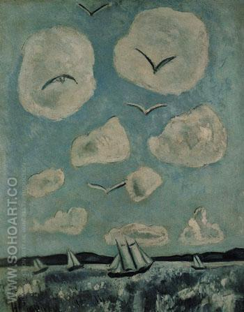 Birds of the Bagaduce 1939 - Marsden Hartley reproduction oil painting