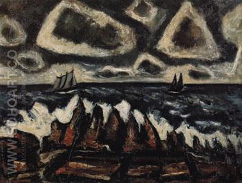 Northern Seascape Off the Banks 1936 - Marsden Hartley reproduction oil painting