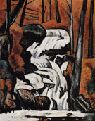 Smelt Brook Falls 1937 - Marsden Hartley reproduction oil painting