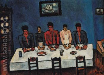 Fishermens Last Supper c1940 - Marsden Hartley reproduction oil painting