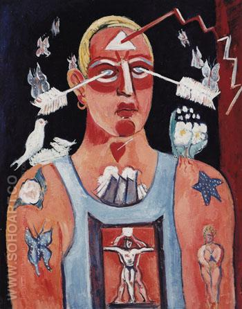 Sustained Comedy 1939 - Marsden Hartley reproduction oil painting