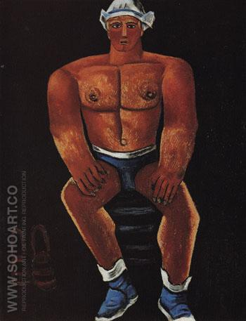 Flaming American Swim Champ c1939 - Marsden Hartley reproduction oil painting