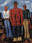 Down East Young Blades c1940 - Marsden Hartley reproduction oil painting