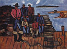 Lobster Fishermen c1940 - Marsden Hartley reproduction oil painting