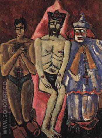 Three Friends 1941 - Marsden Hartley reproduction oil painting