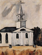 Church at Head Tide No2 c1938 - Marsden Hartley reproduction oil painting