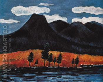 Blue Landscape 1942 - Marsden Hartley reproduction oil painting
