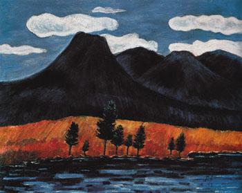 Blue Landscape 1942 - Marsden Hartley reproduction oil painting