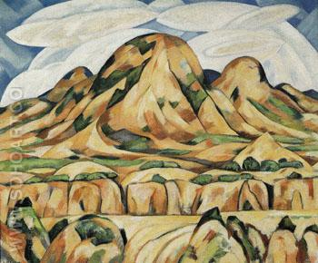 New Mexico Landscape 1919 - Marsden Hartley reproduction oil painting