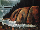 Hurricane Island Vinalhaven Maine 1942 - Marsden Hartley reproduction oil painting
