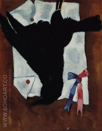 Crow with Ribbons 1941 - Marsden Hartley reproduction oil painting