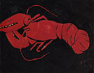 Lobster on Black Background c1940 - Marsden Hartley