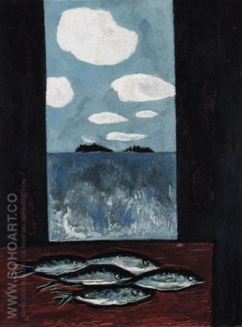 Sea Window Tinker Mackerel 1942 - Marsden Hartley reproduction oil painting