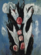 Roses 1943 - Marsden Hartley reproduction oil painting