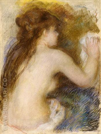 Nude Back of a Woman c1879 - Pierre Auguste Renoir reproduction oil painting