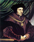 Sir Thomas More 1527 - Hans Holbein reproduction oil painting