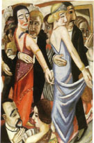 Dance in Baden Baden 1923 - Max Beckman reproduction oil painting
