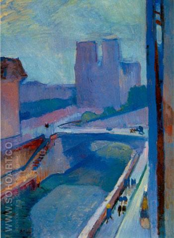 A Glimpse of Notre Dame Late Afternoon 1902 - Henri Matisse reproduction oil painting