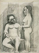 Seated and Standing Nude - Pablo Picasso reproduction oil painting
