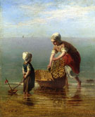Mother and Child by the Sea - Jozef Israels