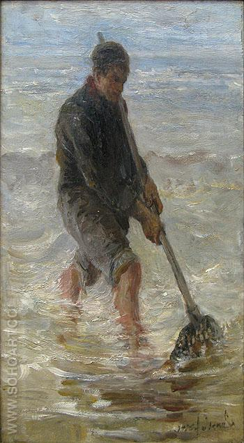 The Wader - Jozef Israels reproduction oil painting