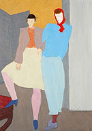 Greenwich Villagers 1946 - Milton Avery reproduction oil painting
